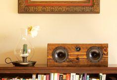 WANT! Bluetooth Speaker System Handmade From Reclaimed Wood -  Weston Box - Dark Walnut