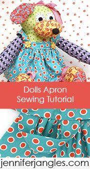 Dolls apron pattern