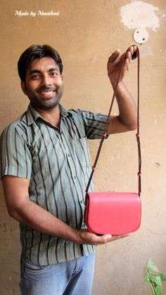 Coral Little Stefanie, Chiaroscuro, India, Pure Leather, Handbag, Bag, Workshop Made, Leather, Bags, Handmade, Artisanal, Leather Work, Leather Workshop, Fashion, Women's Fashion, Women's Accessories, Accessories, Handcrafted, Made In India, Chiaroscuro Bags - 12
