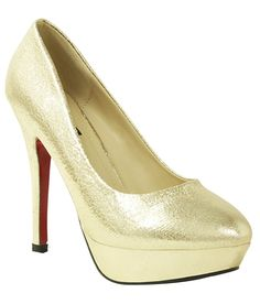 Weather its a dress or sarree, Golden pumps can totally complete your look!