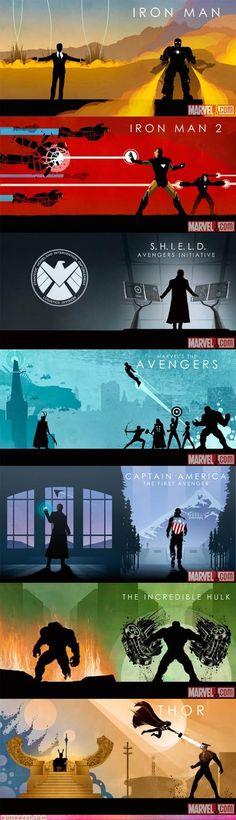 Marvel Cinematic Universe Box Collection Sleeve Art - Cheezburger