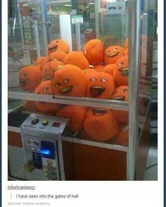 The annoying orange.oh gosh no Funny Pins, Funny Memes, Hilarious, Funny Stuff, Random Stuff, Random Things, Best Of Tumblr, My Tumblr, Really Funny