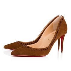 a130969bc65d Christian Louboutin United States Official Online Boutique - Anjalina 85  Macchiato Met Chestnut Suede available