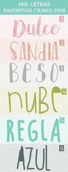 Tipos de letras para hacer cartelitos