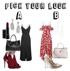 """A or B?"" by raventailor on Polyvore featuring ALDO, H&M, MAC Cosmetics and Topshop"