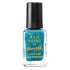 Barry M Glitter Nail Paint Aqua Glitter  £3