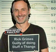 The Walking Dead, Memes, Rick Grimes, Andrew Lincoln Walking Dead Tv Series, Walking Dead Funny, Walking Dead Zombies, The Walking Dead Tv, Top Tv Shows, Talking To The Dead, Dead Inside, Stuff And Thangs, Andrew Lincoln