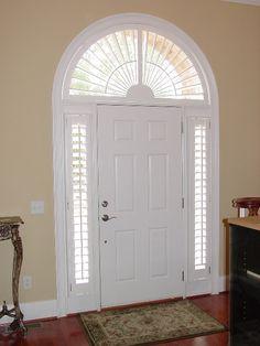 Entry Door Sidelight Window Shutters | Sunburst Shutters | Front Door |  Pinterest | Window, Doors And Front Doors