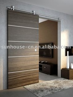 Barn doors today are becoming part of interior decoration in many houses because they are stylish. When building a barn door on your own, barn door hardware kit Wooden Sliding Doors, House Design, Door Design, House, Door Fittings, Innovation Design, Wood Doors Interior, Barn Doors Sliding, Sliding Door Design