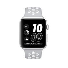 Apple Watch Nike+, 42mm Silver Aluminum Case with Flat Silver/White Nike Sport Band - Apple