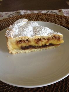 Crostata crema amaretti e cioccolato