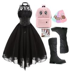 """""""pastel goth"""" by anjalenabvb ❤ liked on Polyvore featuring Dollhouse"""