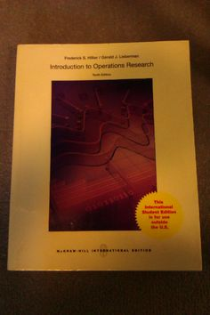 Introduction to operations research / Frederick S. Hillier, Gerald J. Lieberman - TQS Hil