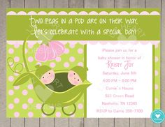 Sweet Pea Baby Shower For Twins And Triplets