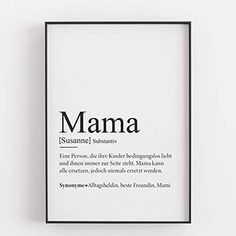 Mom Gift Mother's Day Gift Personalized Birthday Gift Mother Defintion Art Print Personal - Unframed Products a Cute Birthday Gift, Mother Birthday Gifts, Personalized Birthday Gifts, Mother Day Gifts, Gifts For Mom, Mom And Baby, Mom Blogs, Boyfriend Gifts, Valentine Gifts