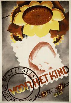 Titel:Postzegels, briefkaarten voor het kind Maker: opdrachtgever/adverteerder:   PTT (Nederland) ontwerper/artdirector:   Sjollema, Joop drukker:   Senefelder Trefwoord: ptt Verv.jaar:1932-1934