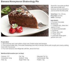 Healthy Dessert Recipe!  http://fitandfabulouswithrachel.com/banana-honeymoon-shakeology-pie