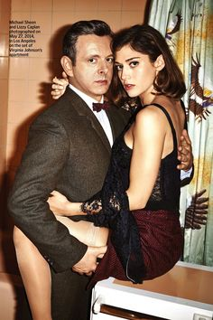 Michael Sheen and Lizzy Caplan - Entertainment Weekly, June 13th 2014 Issue..