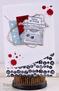 Tap Tap Tap Greetings Card Stampin' Up! Style. Tracy May Independent Stampin' Up! Demonstrator (http://bedlamandbutterflies.co.uk)