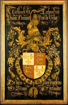 Wapenbord van Eduard IV (1442-83), koning van Engeland, in zijn hoedanigheid van ridder in de orde van het Gulden Vlies, 1487 - Coustain, Pierre
