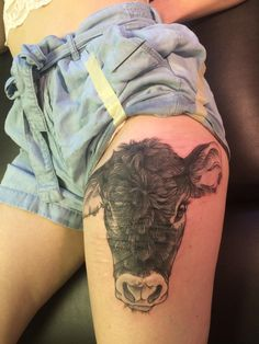 Ooh are we doing cow tattoos? Here's mine!