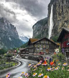 Wonderful Places: Rainy day in Lauterbrunnen - Switzerland ✨❤️❤️❤️✨ Picture by ✨✨ . Places Around The World, The Places Youll Go, Places To See, Beautiful Places To Visit, Wonderful Places, Destination Voyage, Travel Abroad, Dream Vacations, Beautiful Landscapes