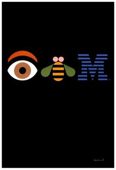 "Paul Rand's ""Eye Bee M"" poster, which he  designed in 1981 for IBM"