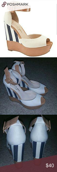 Jessica Simpson wedges Jessica Simpson wedges, sz 8.5, worn once Jessica Simpson Shoes Wedges