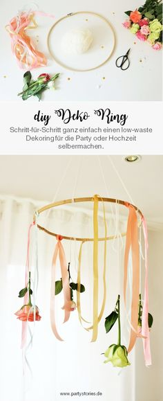 low waste party Schritt-fr-S - lowwaste Hang From Ceiling Decor, Baby Party, Silk Ribbon, Own Home, Japanese Soaking Tubs, Decoration, Upcycle, Baby Shower, Bridal