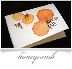 watercolor bees - courtney khail stationery