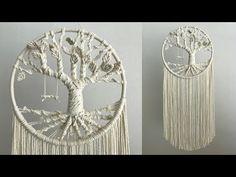macrame tree of life free pattern Art Macramé, Diy Dream Catcher Tutorial, Macrame Owl, Macrame Wall Hanging Diy, Macrame Design, Macrame Projects, Macrame Patterns, Google Search, Free Pattern