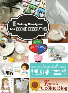 Fifteen Icing Recipes for Cookie Decorating – The Sweet Adventures of Sugar Belle Icing Frosting, Cookie Icing, Royal Icing Cookies, Frosting Recipes, Cupcake Cookies, Sugar Cookies, Cookie Recipes, Cupcakes, Cookie Ideas