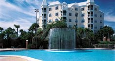 Our upcoming vacation location -- Hilton Grand Vacations Suites At Seaworld - Orlando, Fl Hotels - Pool With Waterfall