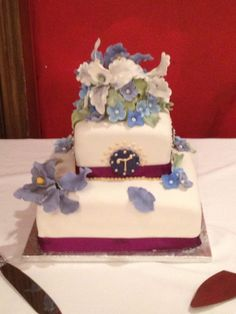 Vow Renewal Cake... Vanilla Pound cake with strawberry Italian buttercream
