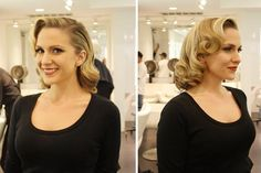 Old Hollywood Glamour - bridesmaids with shorter hair <3