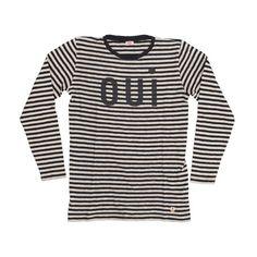 Black-White-Stripes-Oui-Longsleeve-Tshirt