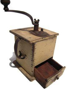 Vintage Coffee Grinder  Old Coffee Grinder  Coffee by BeckVintage, $48.00