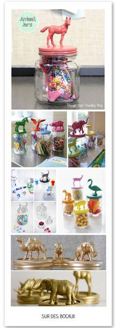 http://www.plumetismagazine.net/atelier-du-mercredi-avec-des-animaux-en-plastique/ 40 projets créatifs avec des animaux en plastique