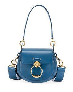 V3Y04 Chloe Tess Small Leather/Suede Camera Crossbody Bag