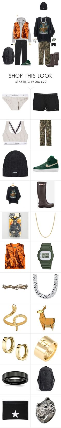 """Hunting Chique"" by kevin-whitcanack on Polyvore featuring Carhartt, L.L.Bean, NIKE, Kingsman, David Yurman, G-Shock, Pearls Before Swine, Madina Visconti di Modrone, Cartier and Patagonia"