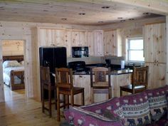 Blue Ridge Log Cabins Banner Elk Kitchen #kitchendesign #cabincooking #kitchen-cabin #loghomes #loghomedesign