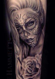 Kuvahaun tulos haulle king and queen skull tattoos