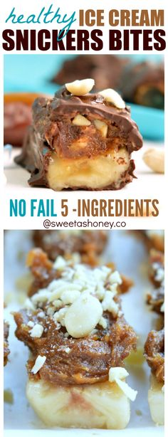 Snickers candy bars Ice Cream that are healthy for you. No refined sugar, dairy free a vegan guilt-free frozen treat! Get your recipe now!
