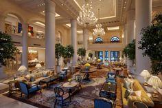 The Leela Palace New Delhi, India lobby, 2015 Top Hotels, Hotels And Resorts, Best Hotels, Luxury Hotels, Amazing Hotels, Luxury Travel, Ampersand Hotel, Delhi Hotel, Top Honeymoon Destinations