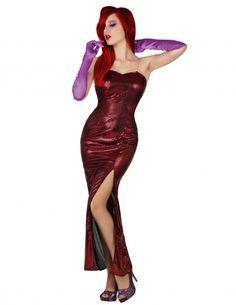 Disfraz vestido rojo sexy mujer