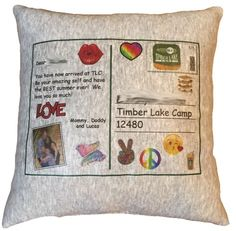 Postcard Pillow Custom Postcards, Red Bandana, Camping Gifts, Get Directions, Grey Sweatshirt, Summer Of Love, Spirit Animal, Decorative Pillows, Sweatshirts