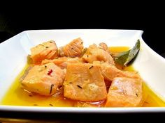 Receta Plato : Tacos de salmón en escabeche por Puntiyo