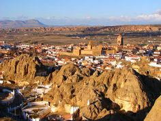 Cave homes in Guadix Spain.