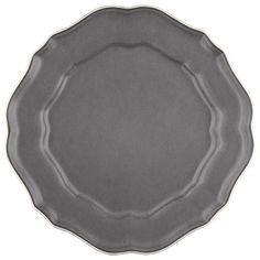 Avignon Grey Scalloped Salad Plates (Set of 4)