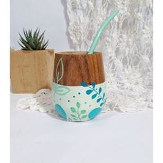 Yerba Mate, Painted Pots, Diy Painting, Decoupage, Instagram, Drawings, Crafts, Ideas, Hand Painted Gourds